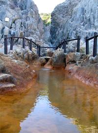 式根島:地鉈(じなた)温泉