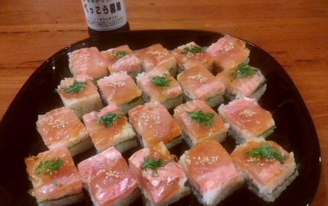漬けキンメの押し寿司